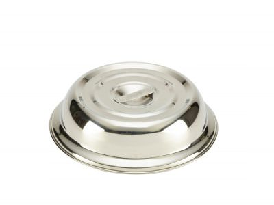 """Round S/St. Plate Cover For 8"""" Plate"""