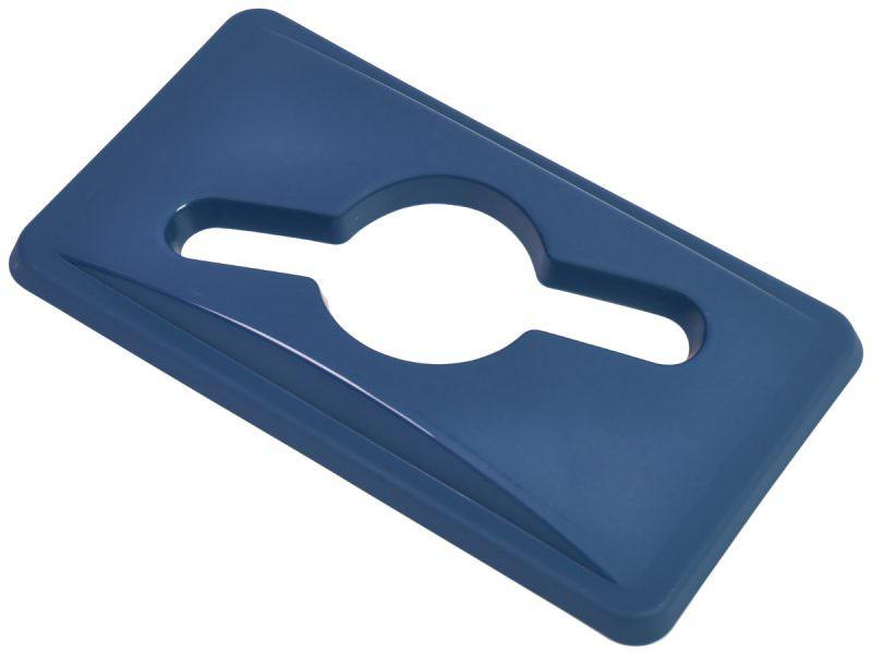Blue Paper Lid For Slim Recycling Bin