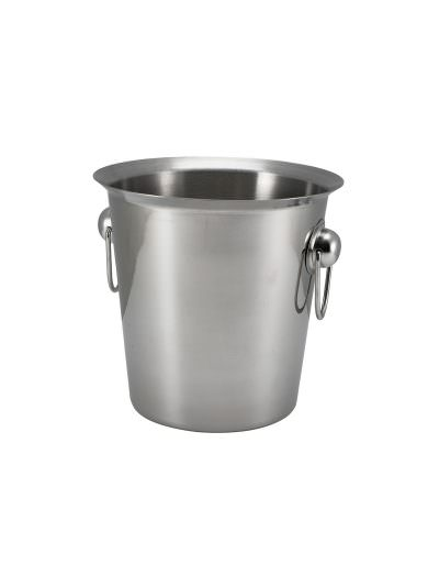 S/St.Wine Bucket With Ring Handles