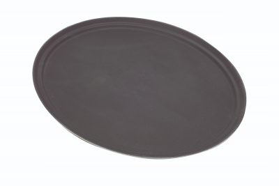 "Tray Gengrip Fibreglass Oval 31"" Black"