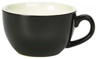 Royal Genware Bowl Shaped Cup 17.5cl/6oz Black