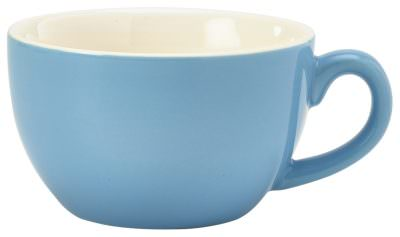 Royal Genware Bowl Shaped Cup 17.5cl/6oz Blue