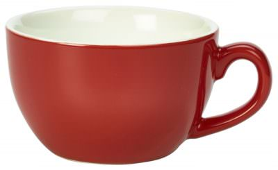 Royal Genware Bowl Shaped Cup 17.5cl/6oz Red