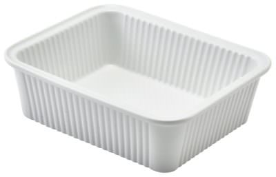 Royal Genware Fluted Rectangular Dish 16 x 13 x 5cm