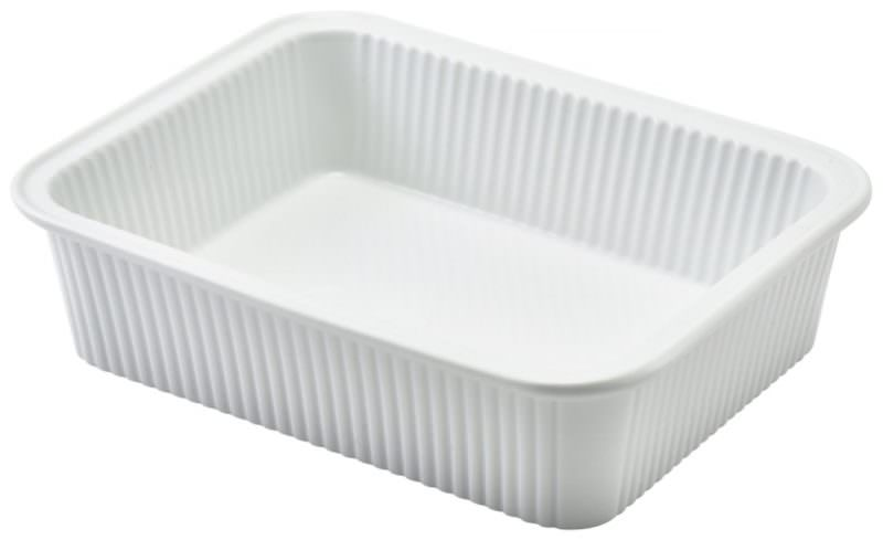 Royal Genware Fluted Rectangular Dish 20.5 x 16.5 x 5cm