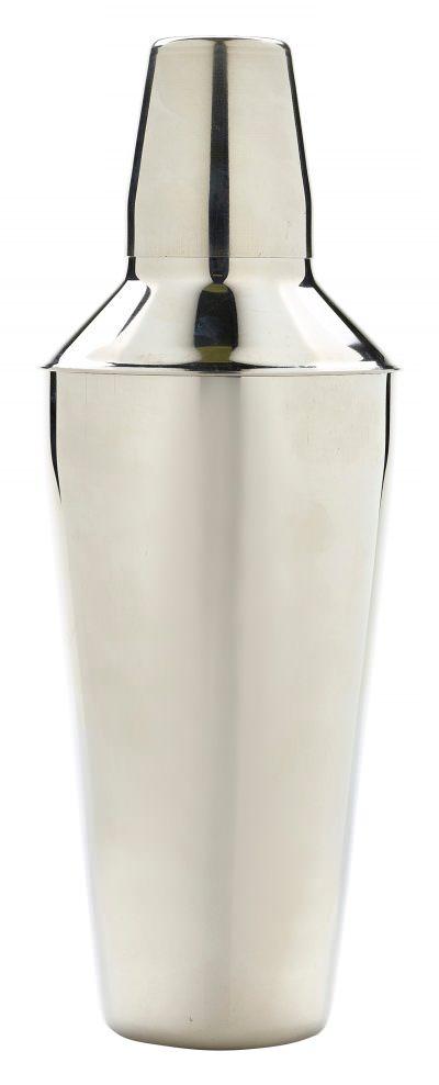 S/St.Cocktail Shaker 25cm Tall 750ml