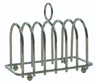 Chrome Horseshoe 6 Slice Toast Rack