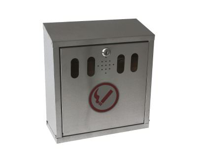 Genware S/St. Wall-Mounted Outdoor Ashtray