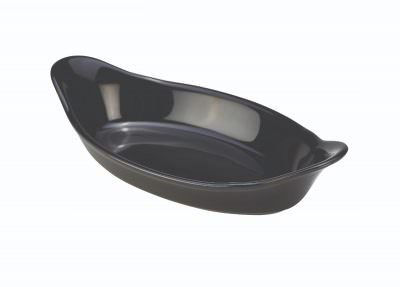 Royal Genware Oval Eared Dish 16.5cm Black