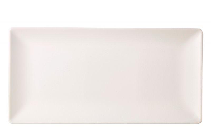 Luna Rect.Coupe Plate 30X20cm White Stoneware