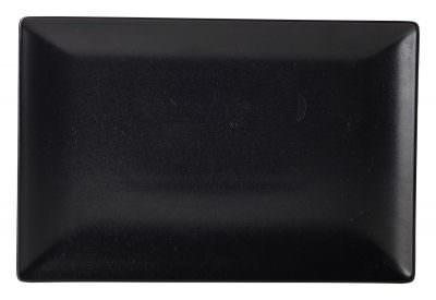 Luna Rect.Coupe Plate 30X20cm Black Stoneware