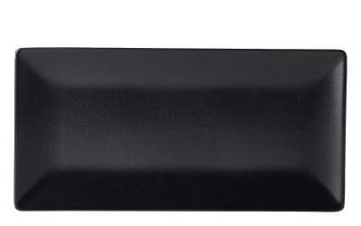 Luna Rect.Coupe Plate 30X15cm Black Stoneware