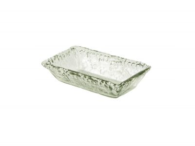 Glass Rectangular Bowl 21x13x5cm