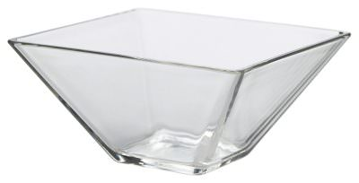 Square Glass Bowl 14 x 7cm H