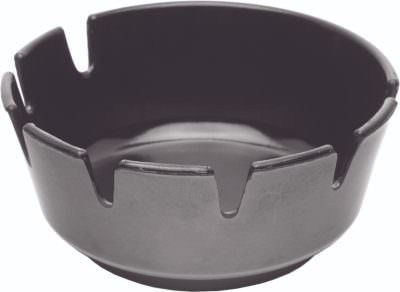 Melamine Deep Ashtray Black 100mm Dia