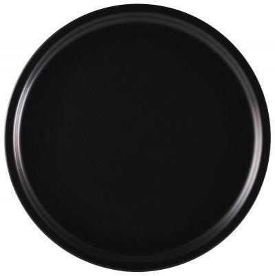 Luna Pizza Plate 33cm Dia Black Stoneware