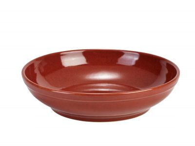 Terra Stoneware Rustic Red Coupe Bowl 23cm