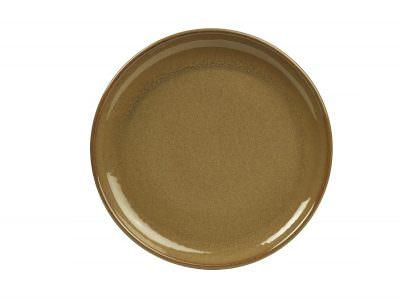Terra Stoneware Rustic Brown Coupe Plate 24cm