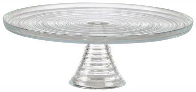 Glass Cake Stand 32 Dia x 11cm (H)