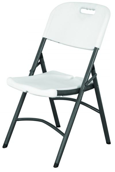 Folding Utility Chair White HDPE