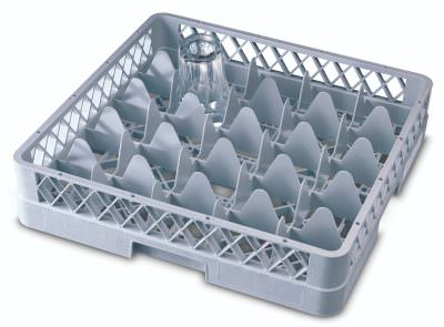 Genware 25 Comp Glass Rack With 3 Extenders