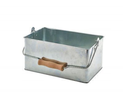 Galvanised Steel Rectangular Table Caddy 24.5x15.5x12.5cm