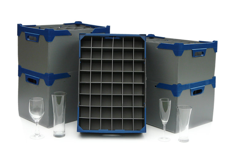 Stacking Wine Glasses Storage Boxes Catering Products Direct