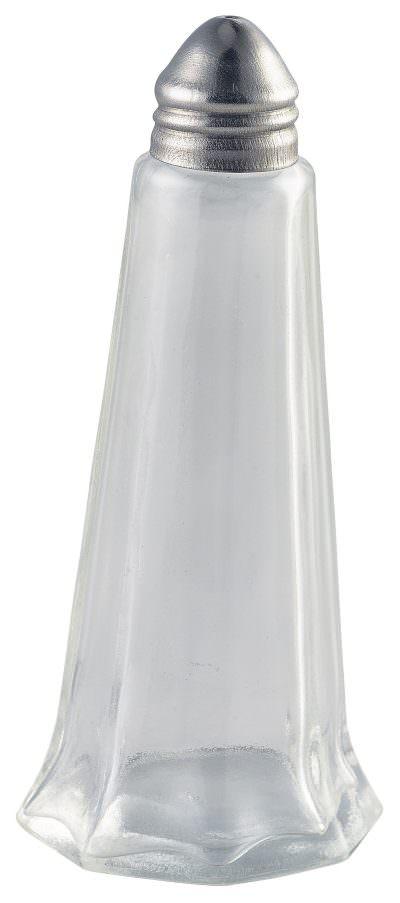 Glass Lighthouse Salt Shaker Silver Top