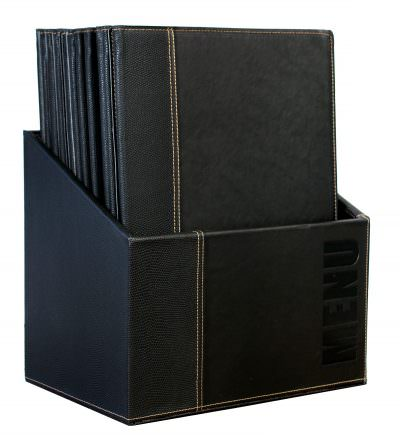 Contemporary Menu Box + 20 A4 Black Menus