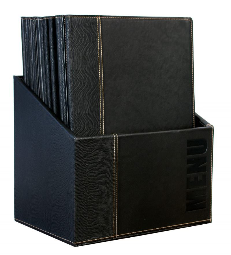 Contemporary Menu Box + 20 A4 Black Menus