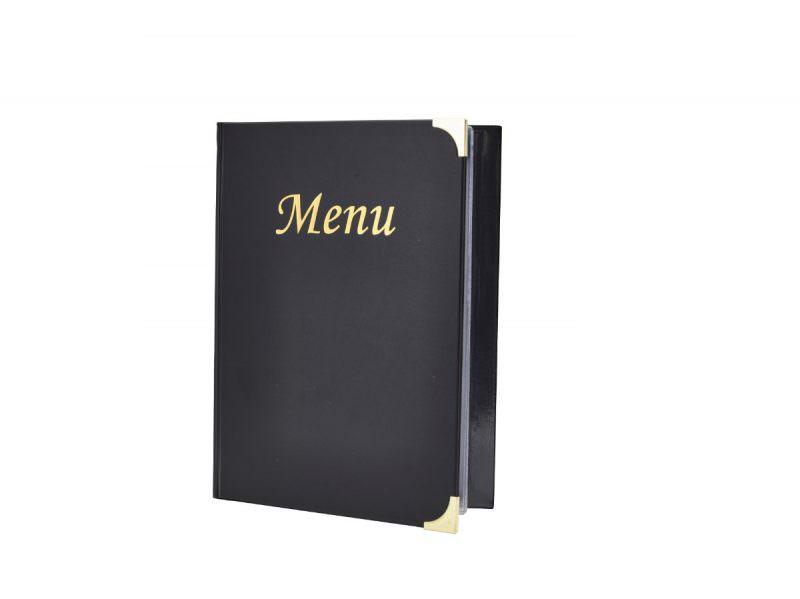 A5 Menu Holder Black 8 Pages
