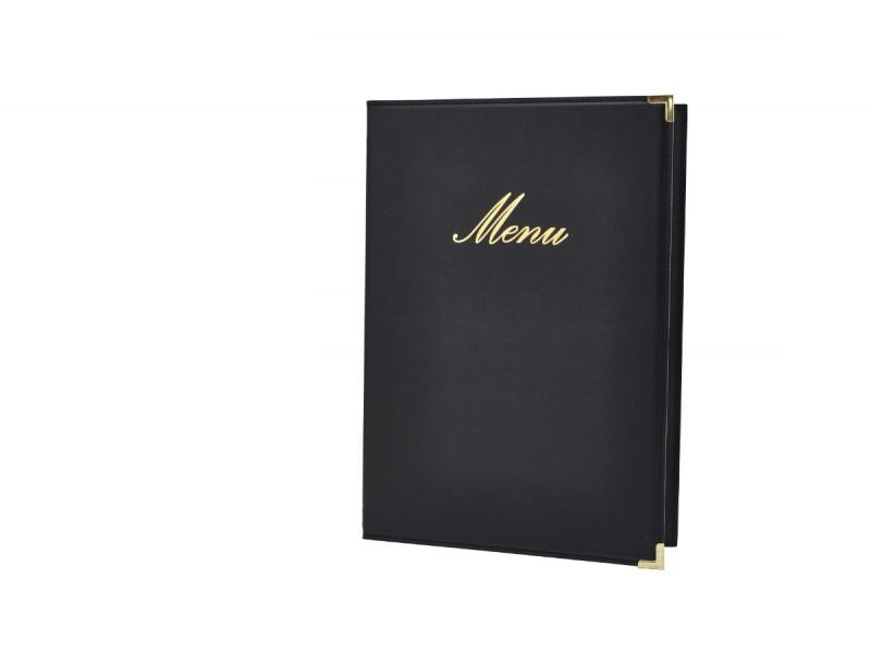 Classic A5 Menu Holder Black 4 Pages