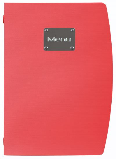 Rio A4 Menu Holder Red 4 Pages