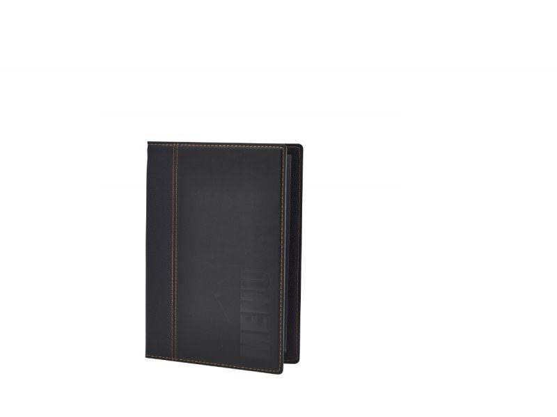 Contemporary A5 Menu Holder Black 4 Pages