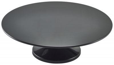 "Black Melamine Cake Stand 33cm/13"""