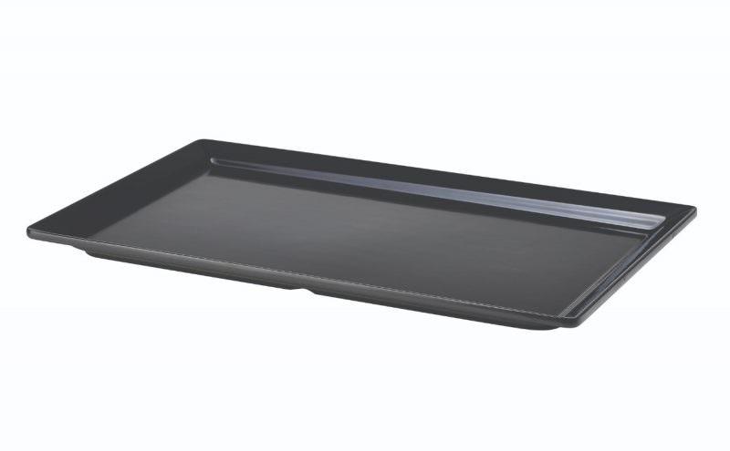 Black Melamine Platter GN 1/1 Size 53 X 32cm