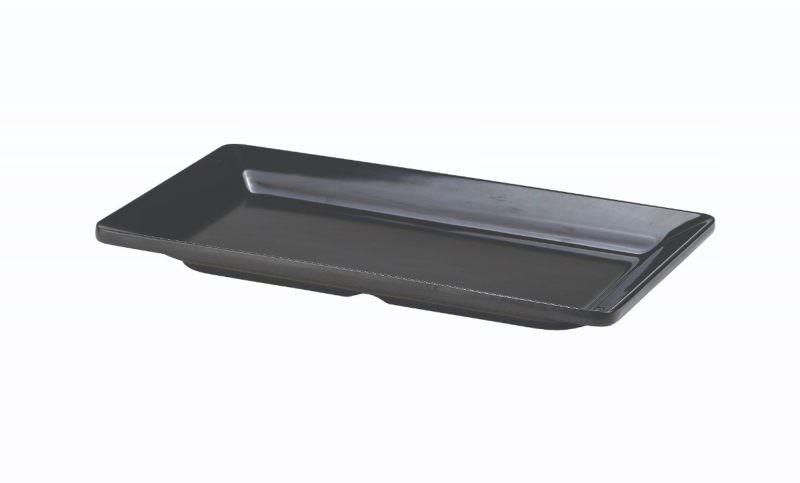 Black Melamine Platter GN 1/3 Size 32X17.5cm