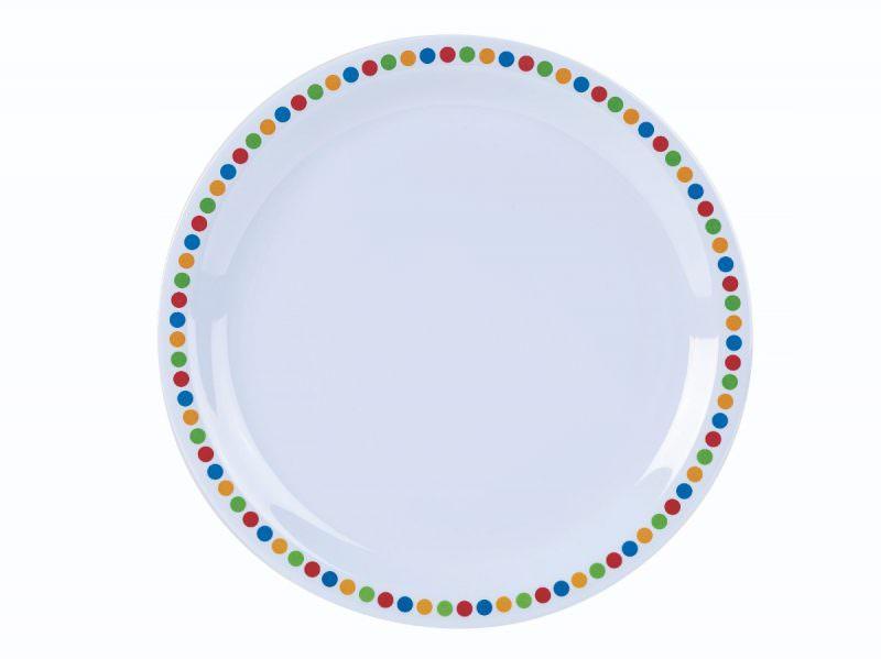 "Genware Melamine 9"" Plate - Coloured Circles"
