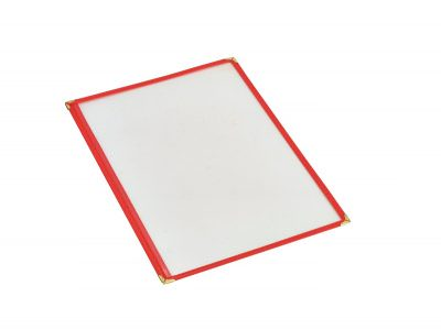Red American Style A4 Menu Holder - 1 Page