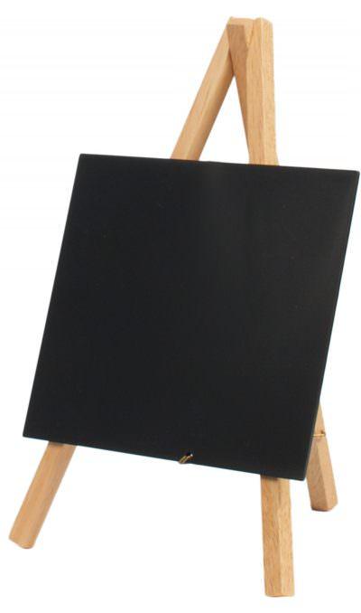 Mini Chalkboard Easel 24 X 11.5cm Wood Pk3