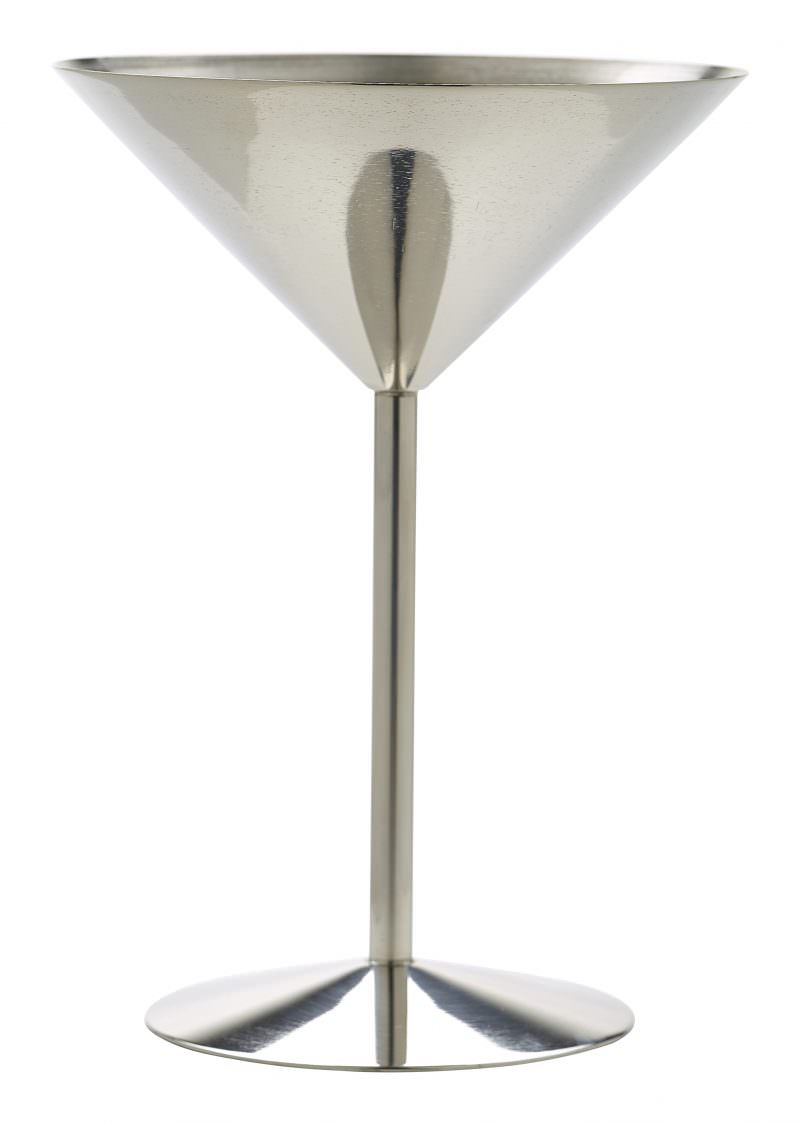 Stainless Steel Martini Glass 24cl/8.5oz