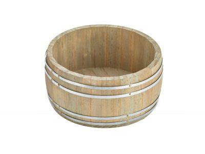 Miniature Wooden Barrel 16.5Dia x 8cm