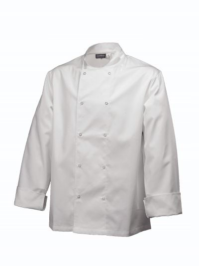 Basic Stud Jacket (Long Sleeve)White XL Size
