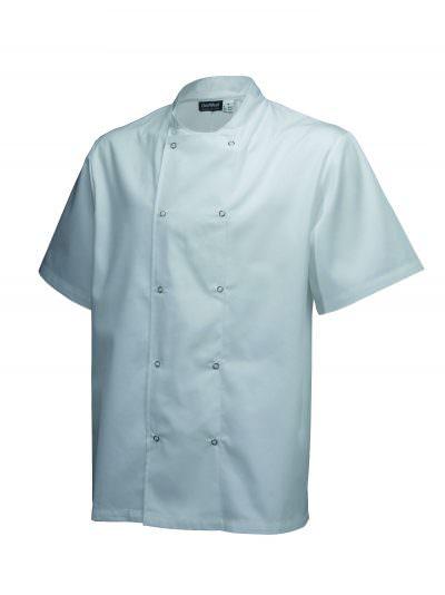 Basic Stud Jacket (Short Sleeve) White XL Size