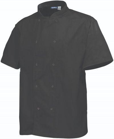 Basic Stud Jacket (Short Sleeve) Black XL Size