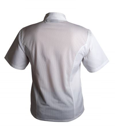 Coolback Press Stud Jacket (Short Sleeve) White S