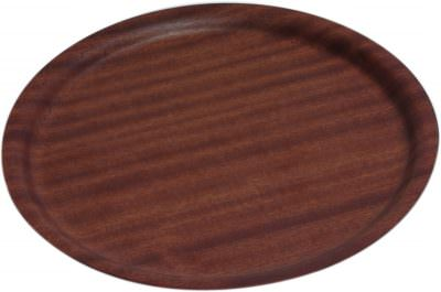 Non-Slip Darkwood Round Tray 27cm Dia
