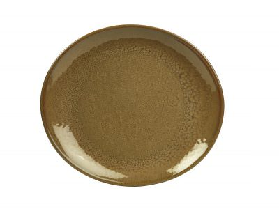Terra Stoneware Rustic Brown Oval Plate 21x19cm