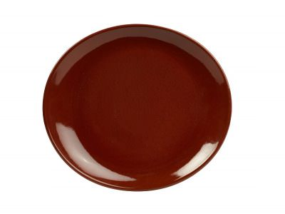 Terra Stoneware Rustic Red Oval Plate 29.5 x 26cm