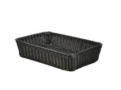 Polywicker Display Basket Black 46 x 31 x 10cm